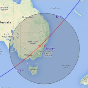 ISS tracks over Sydney Aug14